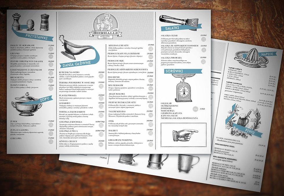 materialy menu bierhalle